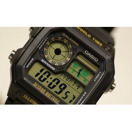93ba4c64d65 Relógio CASIO STANDARD masculino world time AE-1200WH-1BVDF - aconfianca