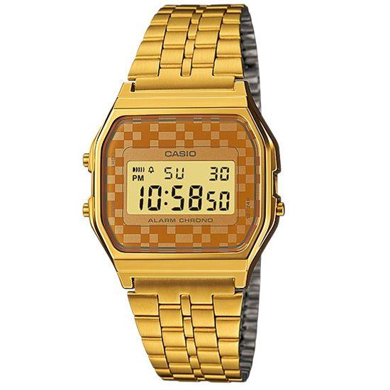 78b1c28ea7e Relógio casio vintage digital a159wgea-9adf dourado - aconfianca