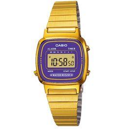 4176f6c133a Relógio CASIO VINTAGE feminino digital dourado LA-670WGA-1DF ...