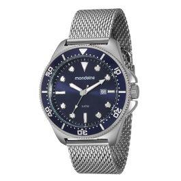 e92d561e926 Relógio MONDAINE masculino prata 76385g0mvna1 esportivo