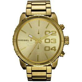 9f81e3f39ca Relógio DIESEL cronógrafo double down idz4268z dourado - aconfianca