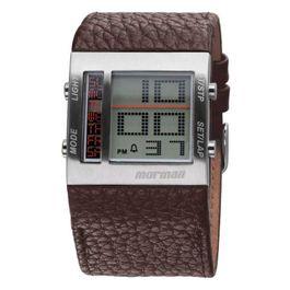 9a9019ea8a9 Relógio MORMAII masculino digital couro y2044bs 8m marrom - aconfianca