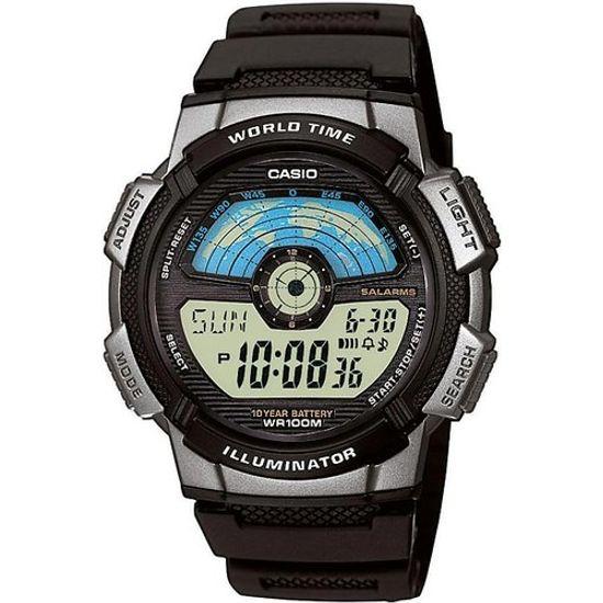 e2578301d Relógio casio digital world time ae-1100w-1avdf - aconfianca