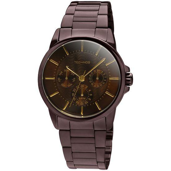 Relógio technos multifunção elegance dress 6p29yq 1m choco - aconfianca 0a28bffbe6
