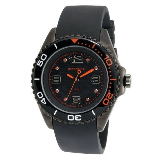7752956506b Relógio MONDAINE masculino analógico borracha 76150gpmspz2 - aconfianca