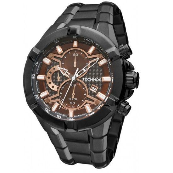 Relógio TECHNOS cronógrafo performance Ts Carbon os1aai 4p - aconfianca d60c4607ff