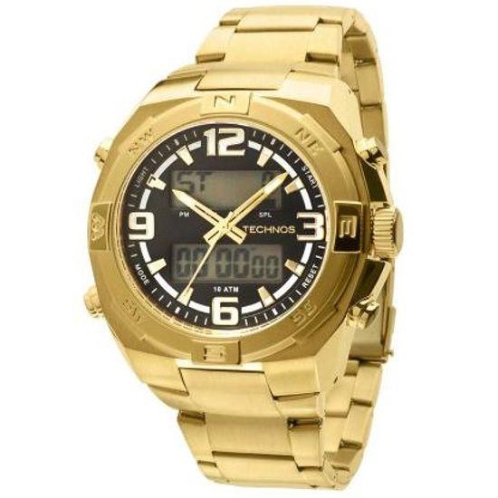 8700753ec0144 Relógio technos anadigi performance ts 50592a 4c dourado - aconfianca