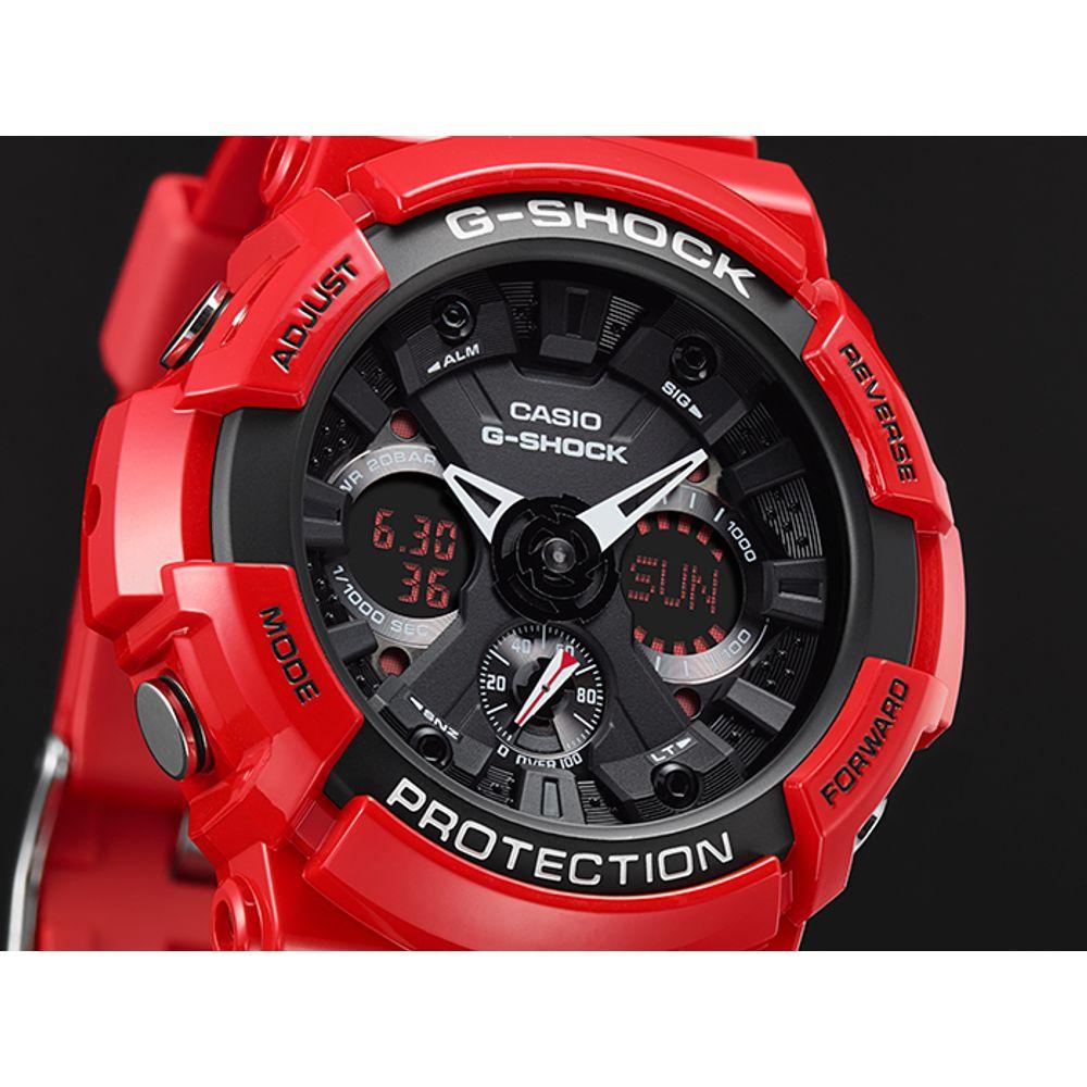 Relógio Casio G Shock Ga-700-4a Vermelho G700 Nota - R