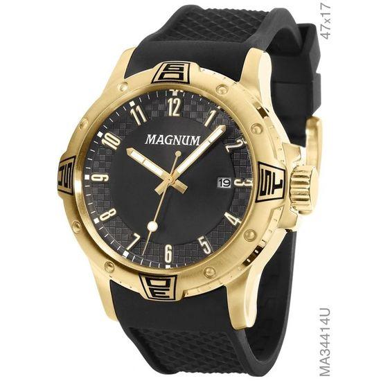 3287eecbf98 Relógio magnum analógico ma34414u dourado preto - aconfianca