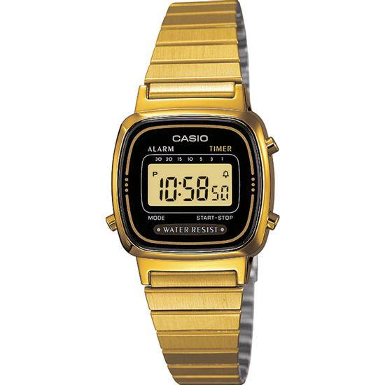 8c906ba1f83 Relógio CASIO VINTAGE feminino digital dourado LA-670WGA-1DF - aconfianca