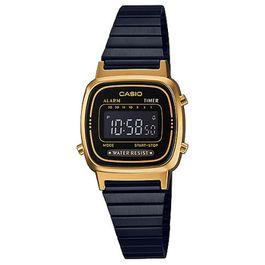 e86d84af7e8 Relógio CASIO VINTAGE feminino preto dourado LA-670WEGB-1BDF ...