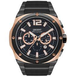 06efd056de9 Relógio ORIENT cronógrafo rosê preto masculino MTSSC022 P2PX