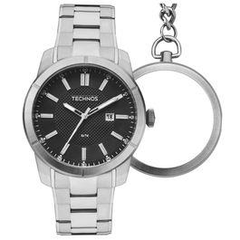 8d8d3fa9662 Relógios - Relógio de Pulso Technos Masculino Aço Inox Analógico ...